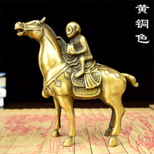 decoration art craft Copper home statue sculpture Fenghou small brass monkey worship ornaments industry immediately(China)