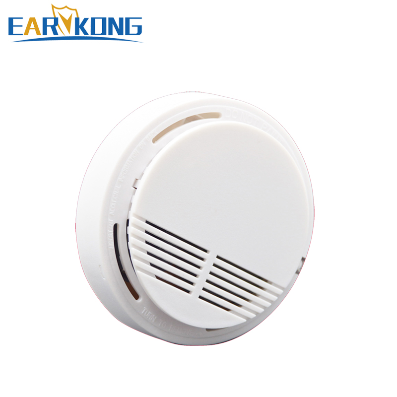Earykong independent smoke detector Sensor Fire alarm for Kitchen/Restaurant/Hotel/Cafe 85db Voice Alert