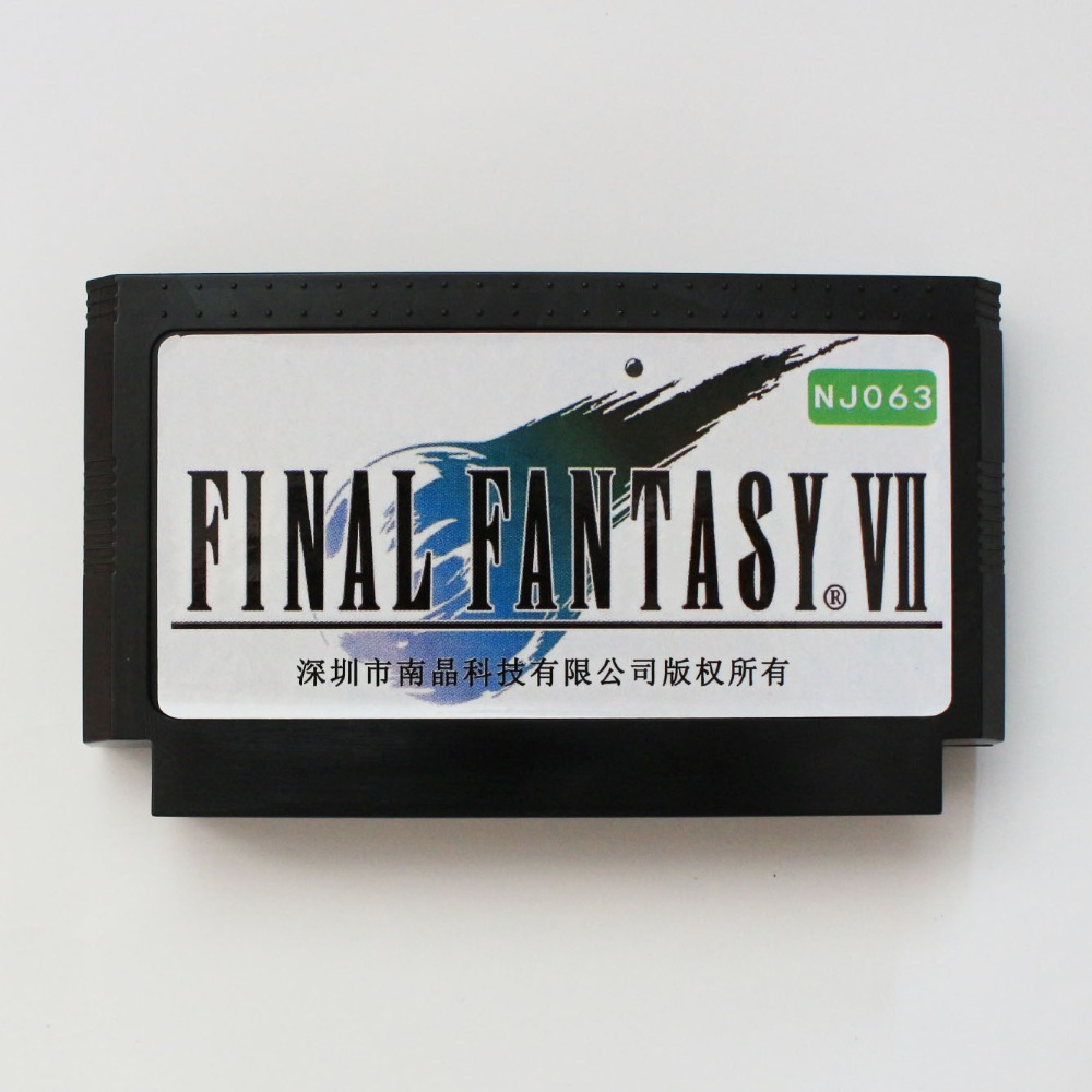 Final Consumers: Final Fantacy VII 60 Pin Game Card For 8 Bit Subor Game