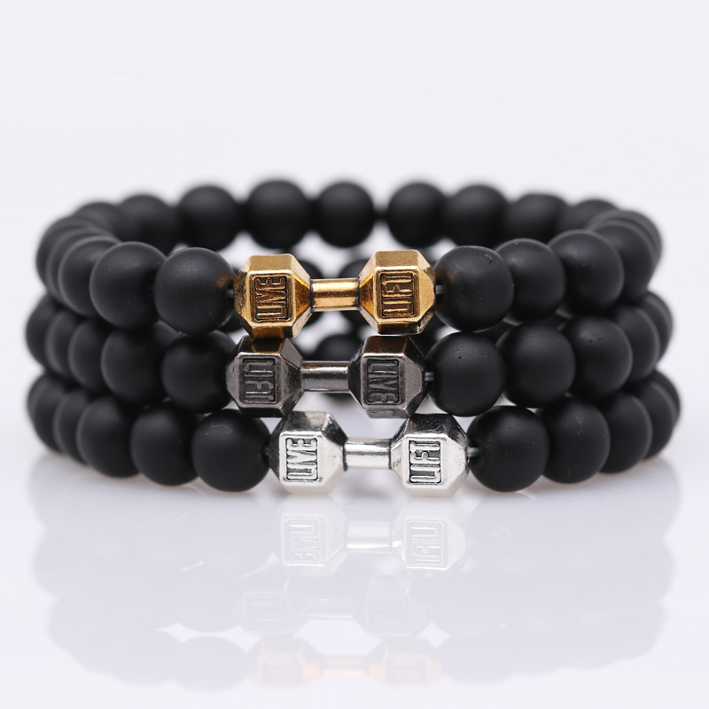 mdiger brand fashion dumbbell bracelets