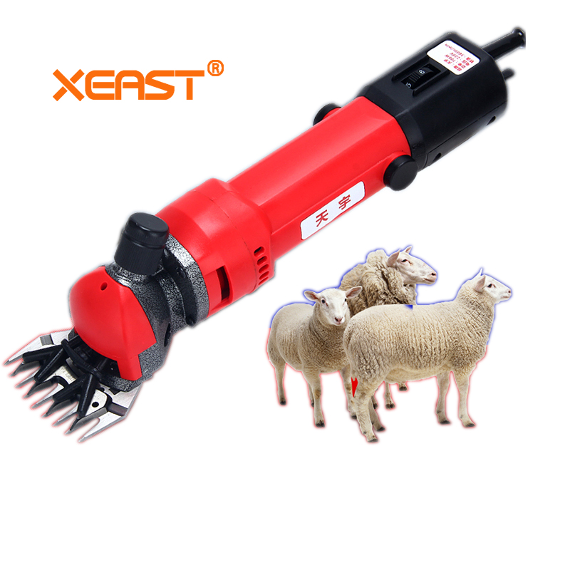 Xeast US/EU plug 220V 700W Electric Sheep Shearing Clipper Scissors Shears Cutter Goat Clipper Machines 9 teeth/13 teeth blade high purity 99 96