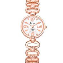 dd8897c6ac4bf 2018 Nouvelle Mode Dame Argent Disque Horloge Simple Conception Poignet Casual  Montre À Quartz femelle temps