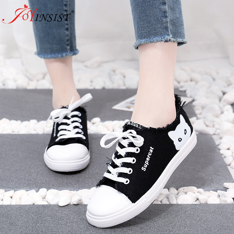 2019 Fashionable Canvas Shoes Comfortable Shoes With Flat Breathable School Students Sneakers Lace Up2019 Fashionable Canvas Shoes Comfortable Shoes With Flat Breathable School Students Sneakers Lace Up