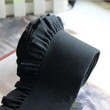 5 шт./партия, мягкий персональный эластичный кружевной пояс, пояс для одежды «сделай сам», пояс для юбки, качественный эластичный пояс со складками, эластичная лента с завышенной талией, ширина 8 см