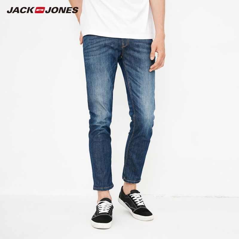 JackJones erkek Pamuklu Solma Slim Fit Kırpma Kot J   218232506