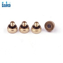 Fog Mist Nozzle, Low pressure mist cooling nozzle. Brass misting nozzle.Orifice 0.3mm. Free Shipping 1 pc low pressure high quality atomizing misting nozzle spray injector atomization head mister mist spraying system nozzle