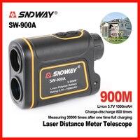 SNDWAY Handheld 900m 1200m 1500m Laser Distance Meter Telescope Golf Hunting Rangefinder Range Finder Monocular 8X