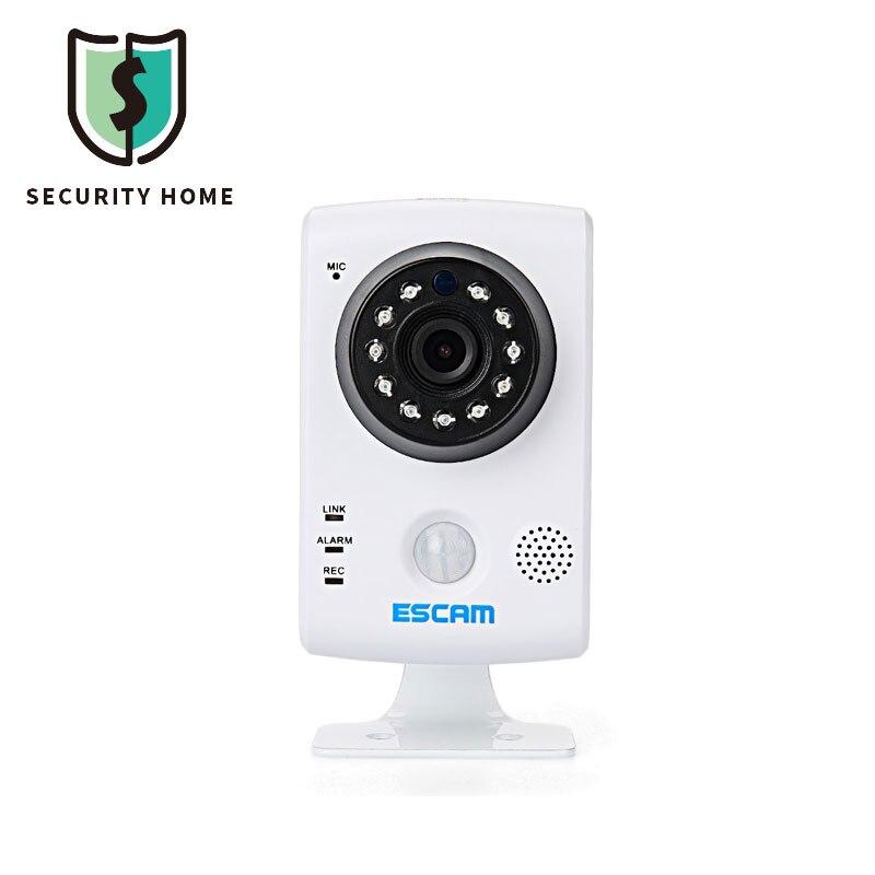 HD 720P Mini Wifi Camera ESCAM QF502 Wireless Camera P2P Plug and Play Pan Tilt IR Cut Monitor Surveillance Camera 32GB TF Slot escam qd310 goblet waterproof 1 4 cmos 720p p2p ip camera w 24 ir led ir cut white au plug