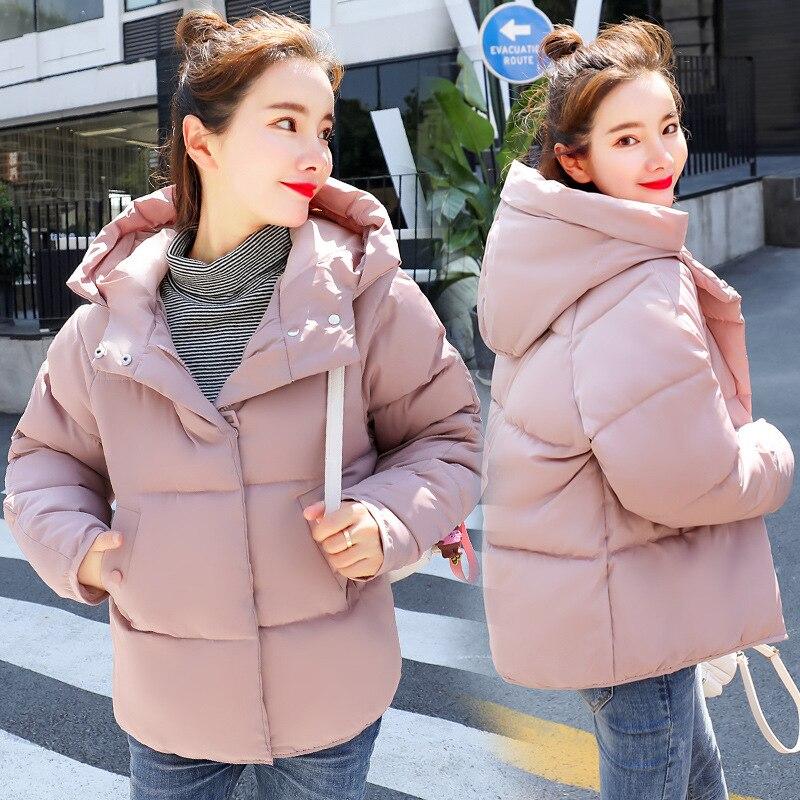 Short Hooded Bakery Winter Down Coat Jacket Student Thick Warm Slim Casaco Feminino Abrigos Mujer Invierno 2018 Wadded Parkas 02
