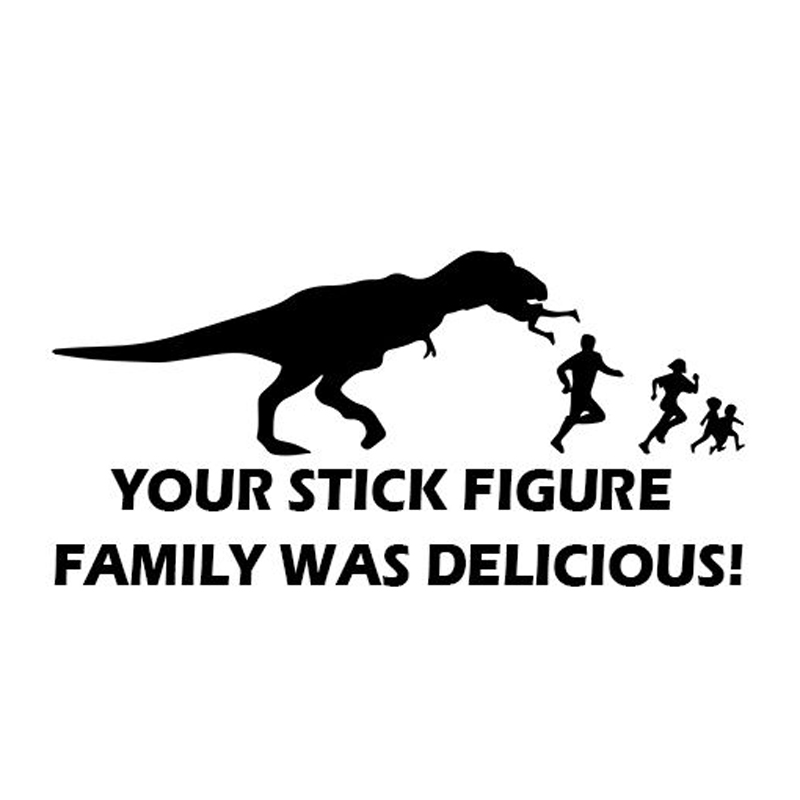 Your Stick Family Was Delicious Figure Decal Sticker Car Vinyl