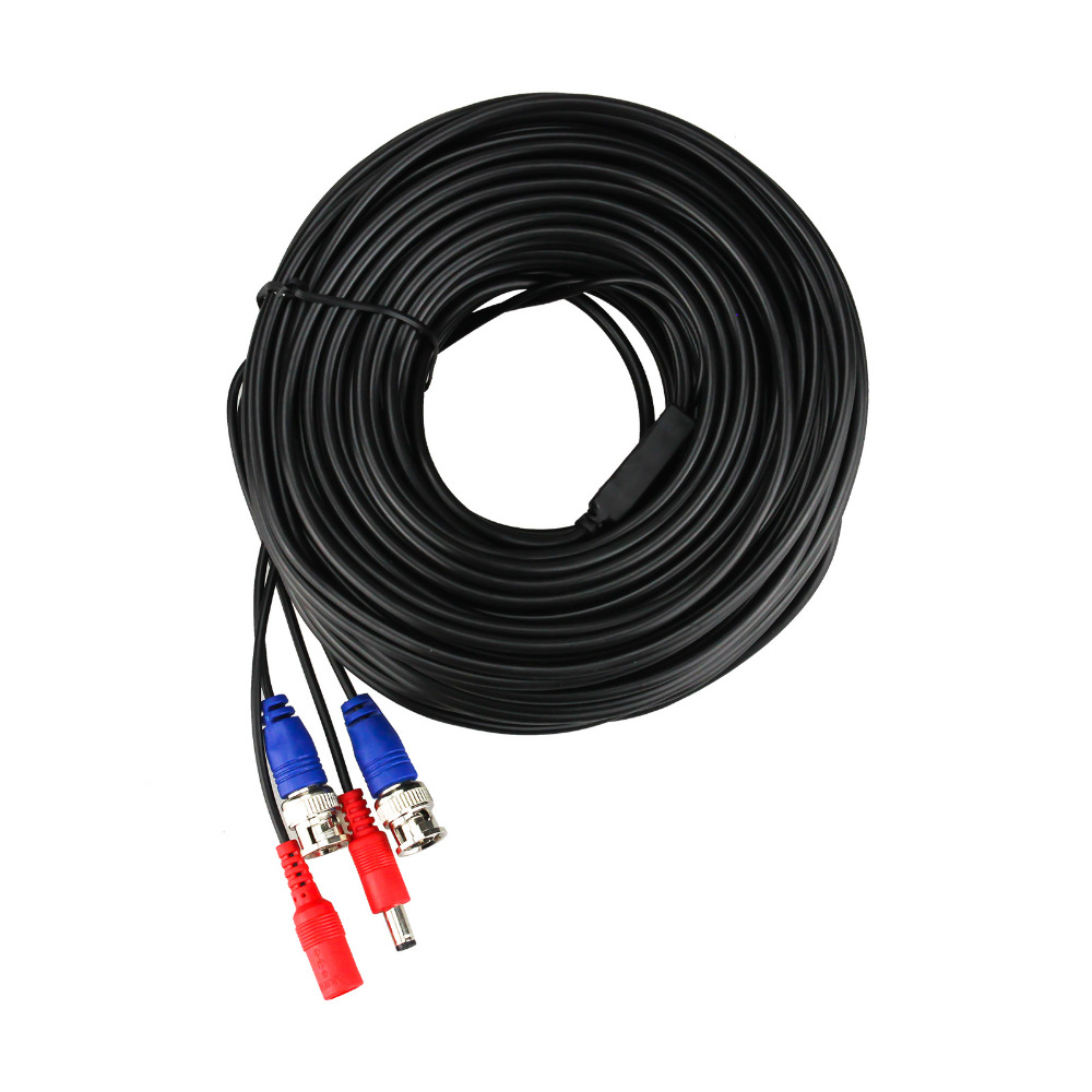 H.View Cable Wires For CCTV POE IP Camera System BNC Cable 20M 30M 40M Optional Cable Bnc For CCTV Cameras 40m cctv camera cable
