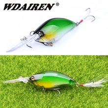 1pcs Crankbait Wobblers Hard Fishing Tackle 18g 11cm Swim bait Crank Bait Bass Lures 10 Colors Laser fishing tackle