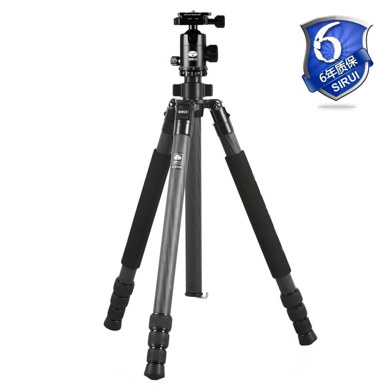 Sirui Tripod Kit Carbon Fiber Tripod For Digital SLR Camera Lightweight Go Pro Stand Go Pro Accessories DHL R2204+G20KX