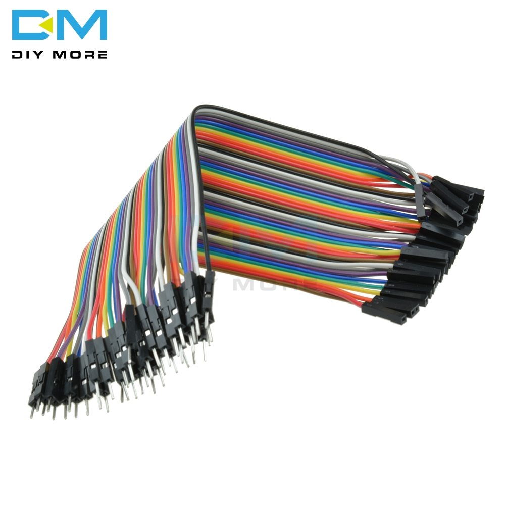 Dupont Wire Jumpercables 20cm 2.54MM Female to Female 1P-1P For Arduino