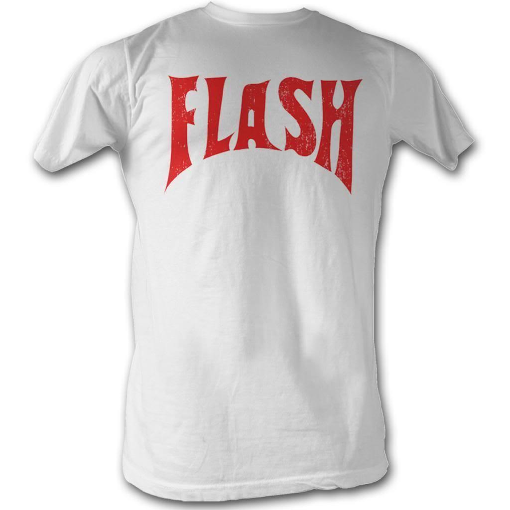 Alarm Flash Gordon Flash Front Alleen Witte Mannen Volwassen Korte Mouw T-shirt