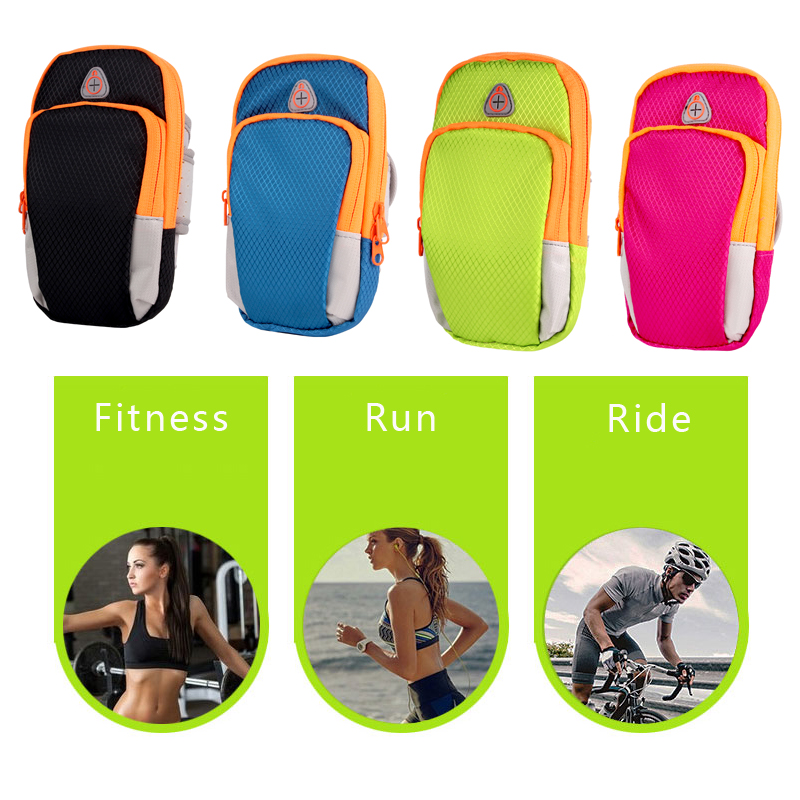 Nylon Running Sport Bag Fitness Gym Jogging Riding Cycling Accessories 5.5inch Cellphone Bag Outdoor Sports Arms Package Newest 8
