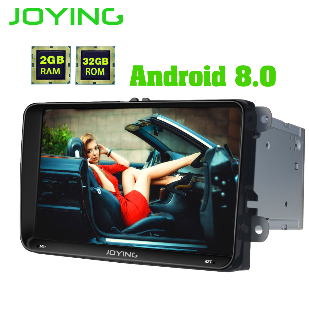 JOYING Android 8.0 Car Radio GPS player for VW Golf 2GB head unit for VW Passat car HD Stereo Radio for Seat Leon/Skoda Octivia yatour car bluetooth adapter kit for factory oem head unit radio for audi for skoda for vw golf eos jetta passat touareg touran