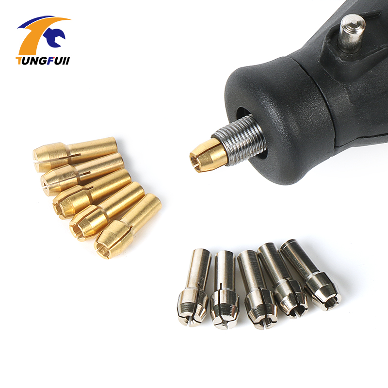 10 قطعه Dremel Mini Drills Chucks Drill Chuck Adapter Micro Collet Chuck For Dremel 4000 3000 لوازم جانبی Dremel برای ابزار چرخشی