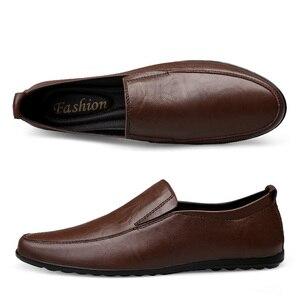 Image 4 - 2019 hommes hiver chaud en peluche en cuir robe de soirée chaussures respirant mâle mode mocassins noir marron affaires loisirs chaussures décontractées