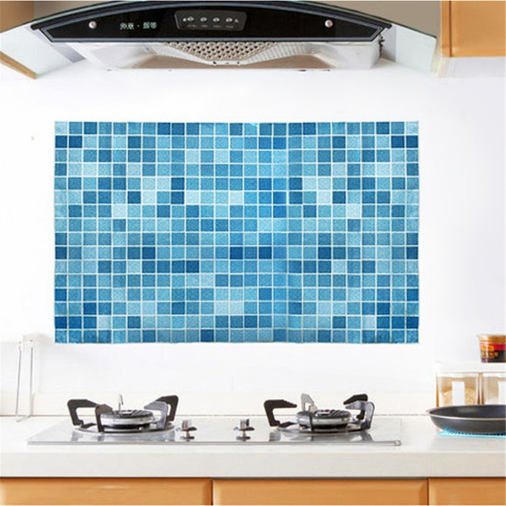 Kitchen Mosaic Tile Stickers For Wall Decal PVC Wall Sticker ...