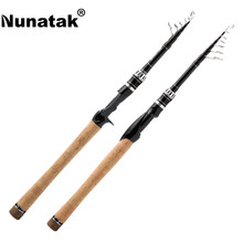Big discount Nunatak  Sange Fishing Rod 2.1 M / 2.4 M M Carbon Fiber Spinning / Baitcasting Stems 6 Sections Travel Stem Fishing Lure