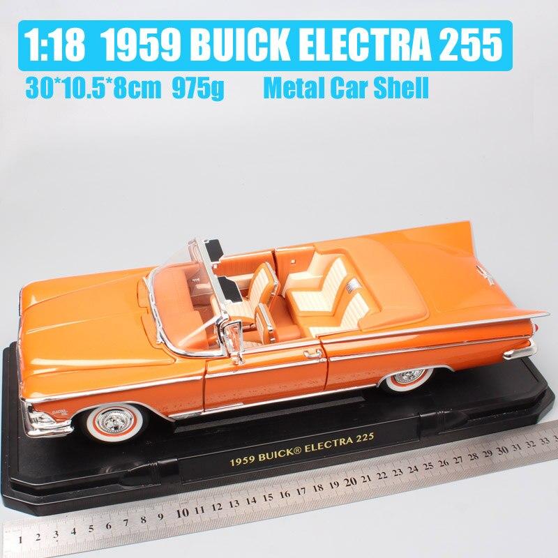 Classique de luxe 1/18 GM 1959 BUICK ELECTRA 225 vintage convertible en métal moulé sous pression modèle voitures véhicule jouet collection miniatures garçon-in Jouets véhicules from Jeux et loisirs    2