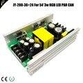 JY-200-36 + 24 200 Вт 36V4.2A 24V2A RGB LED Par Can 36*3 Вт 18*3 Вт блок питания Открытый LED PAR 54x3 Вт Электрический источник питания