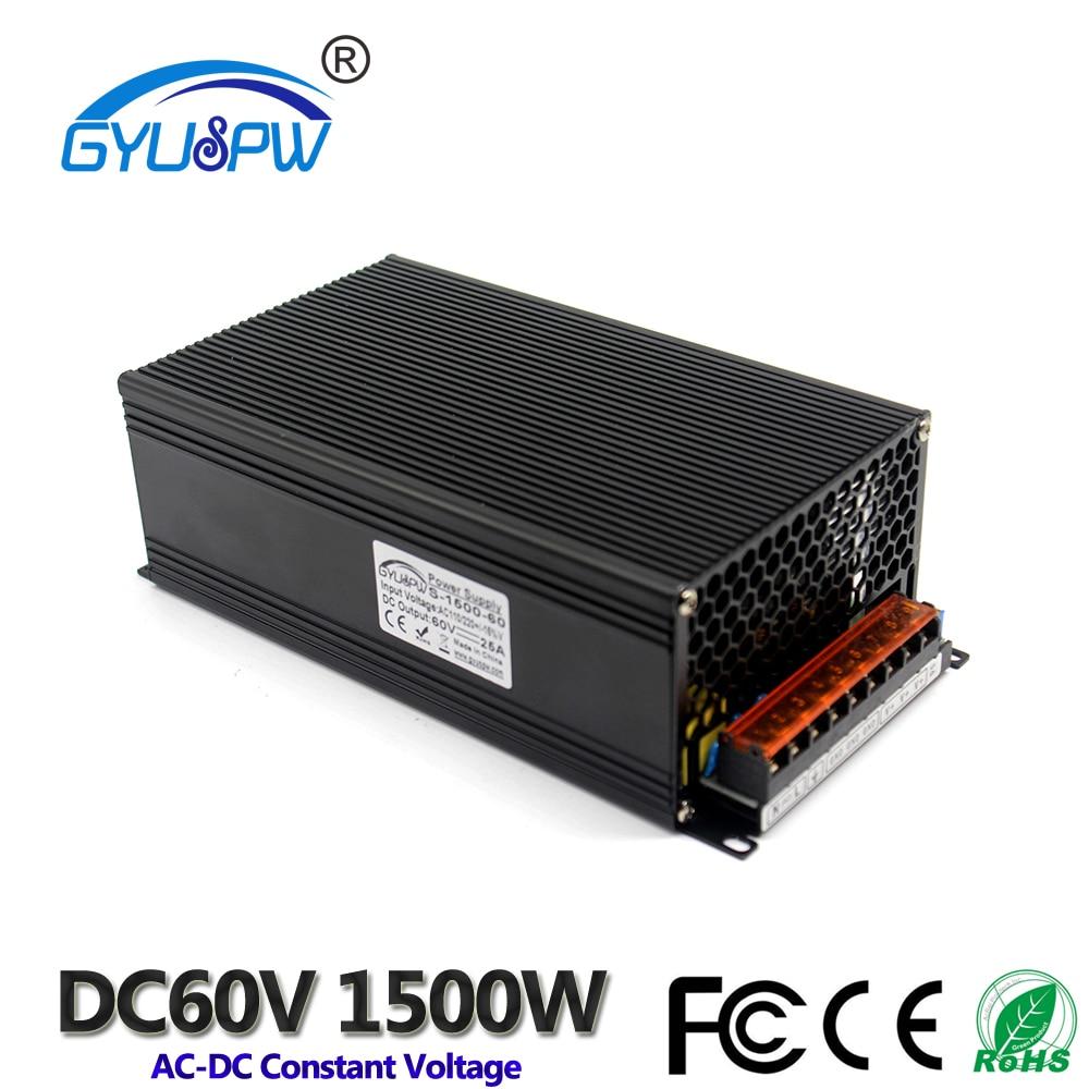 Switching switch Power Supply DC 60V 25A 1500w Power Adapter Driver Transformer 110V 220V AC DC60V