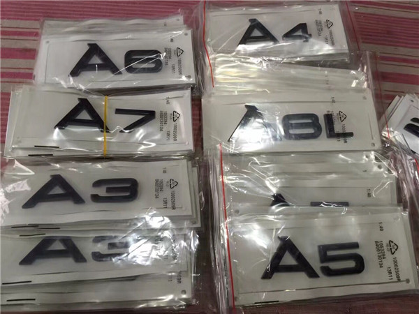 Matte black Rear Trunk Letters Number Badge Emblem Emblems for Audi A3 A4 A5 A6 A7 A8 A4L A6L A8L image