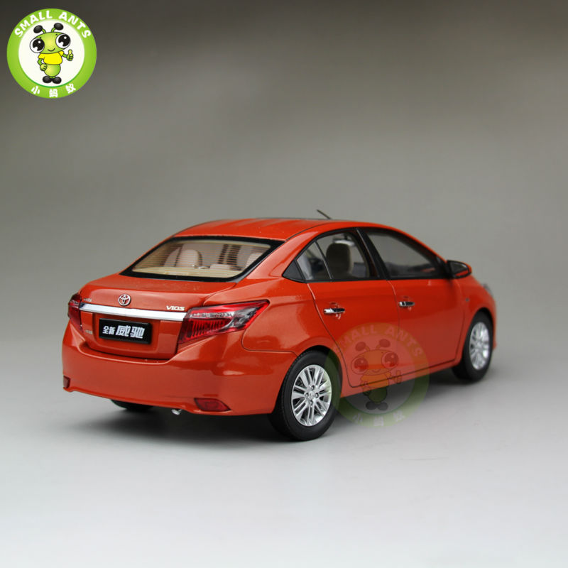 1:18 Toyota New Vios Diecast Car Model Orange Color