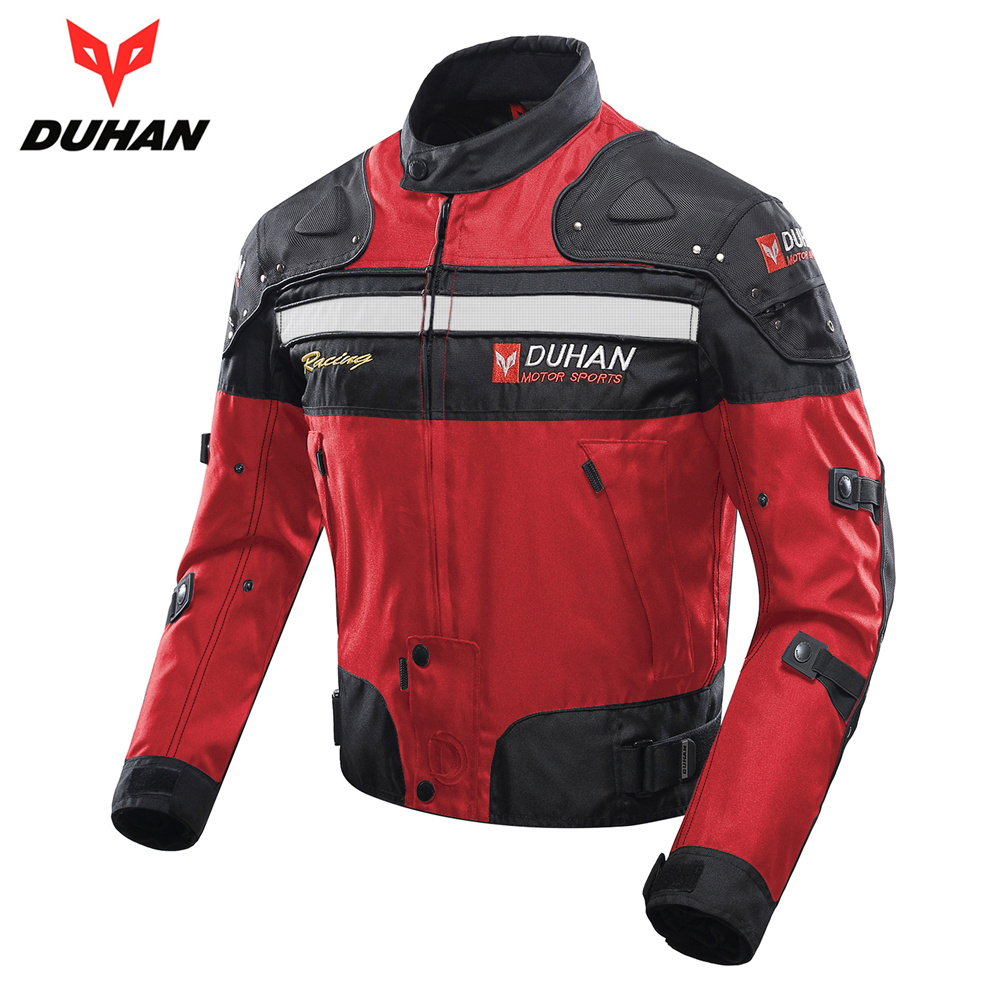 DUHAN Autumn Winter Motorcycle Jacket Motorbike Racing Jacket Moto Windproof Motorcycle Protection Clothing Body Protector Armor duhan motorcycle jacket motocross jacket moto men windproof cold proof clothing motorbike protective gear for winter autumn