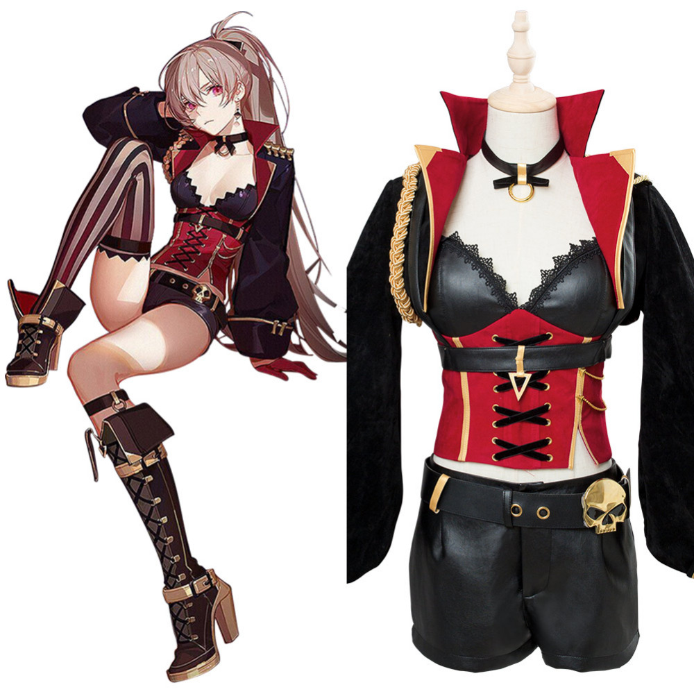 Azur Lane Jean Bart Cosplay Costume Adult Women Girls Suit Halloween Carnival Costumes