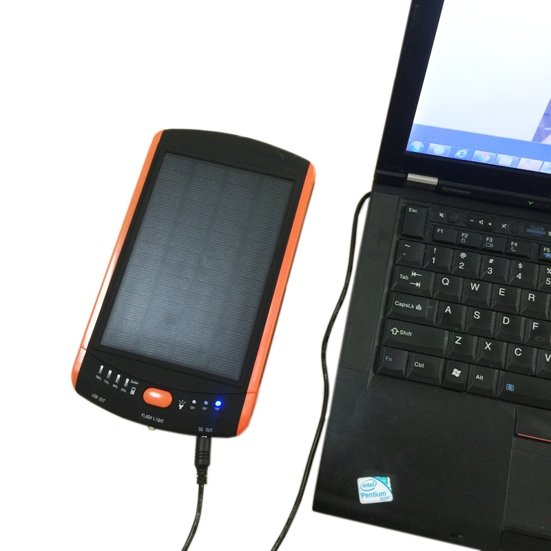 bilder für High-Power 23000 mAh Ladegerät Laptop Backup-Power bank Große Kapazität Solar Externe Batterie 19 V Solar Panel Power für Xiaomi