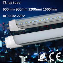 10Pcs/Lot T8 LED Tube Lamp 220V 600mm/1200mm LED T8 Lights LED Wall Lamp Warm White/White LED Fluorescent T8 Neon