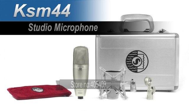 Бесплатная доставка профессиональный высокое качество KSM44 студия звукозаписи проводной микрофон студия интервью с микрофона, Microfono, Mikrofon