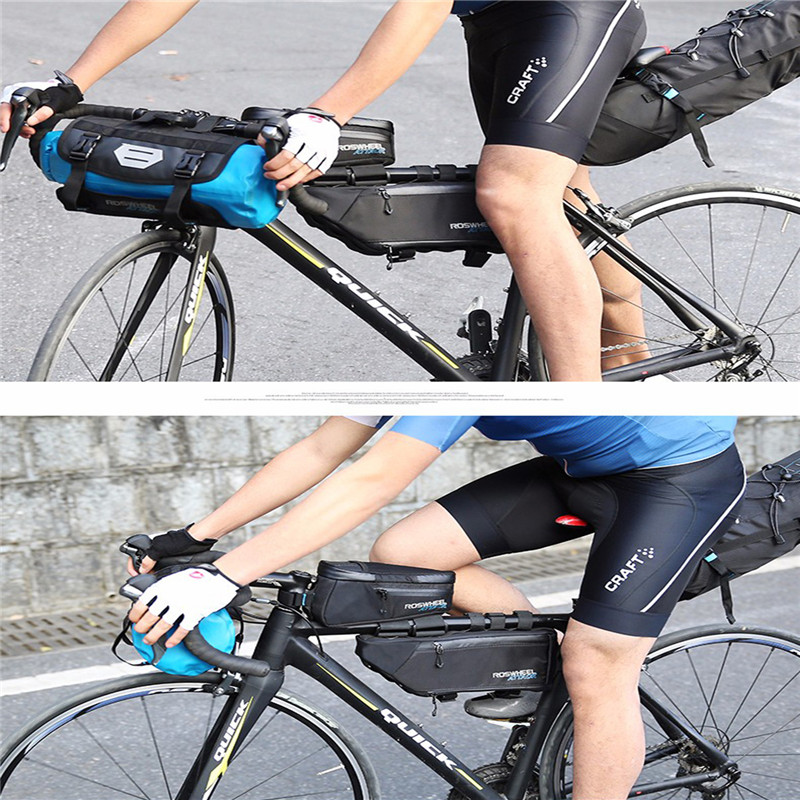 Sac de vélo sac de vélo cadre avant Tube VTT poche Triangle support de cadre sac de selle vélo sacs de cyclisme accessoires