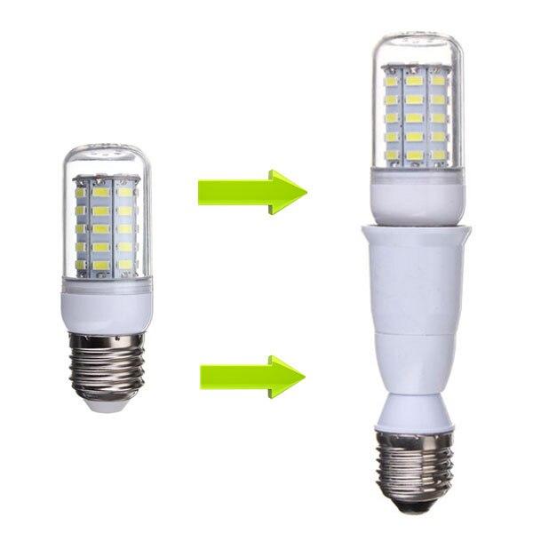 Extension E27 To E27 Lamp Base Holder Lamp Holder Adapter Converter Socket Base CLF LED Light Bulb