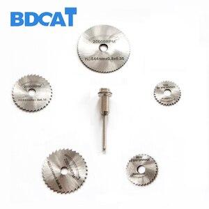 Image 4 - 6 قطعة منشار دائري صغير HSS أدوات دوارة لقطع الخشب من دريميل