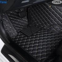 Tane leather car floor mats For Volkswagen polo sedan touran 2007 golf 4 5 6 passat b5 b6 b7 Tiguan accessories carpet rug