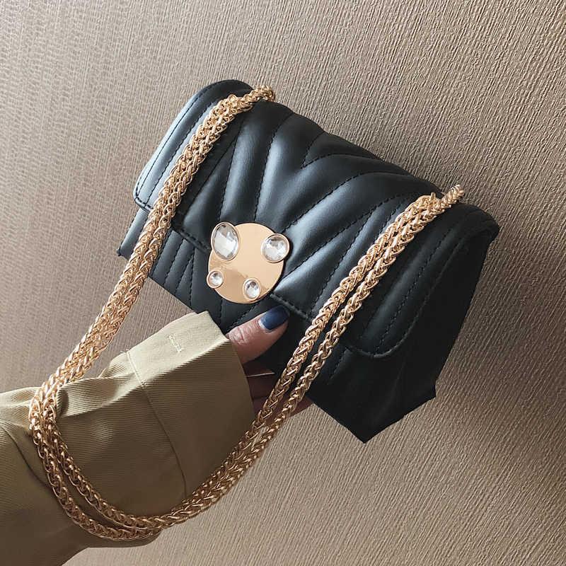 Новейший Алмаз решетки модная популярная сумка Сумки женские Сумки из искусственной кожи женская большая цепь сумка через плечо сумки