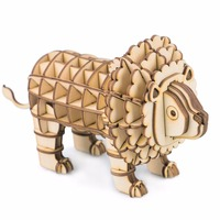 DIY Puzzle Enfant Gift Cut Die Handmade 3D Paper Japanese Wooden Animal Models Kits Toy Simulation