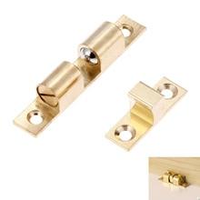 Cabinet-Door-Latch Lock-Door All-Copper Catch Spring-Clip Touch-Beads DRELD Brass 1pc
