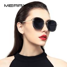 Merry's дизайн Для женщин поляризационные Солнцезащитные очки модные Защита от солнца Очки Металл храм 100% УФ-защитой s'6108