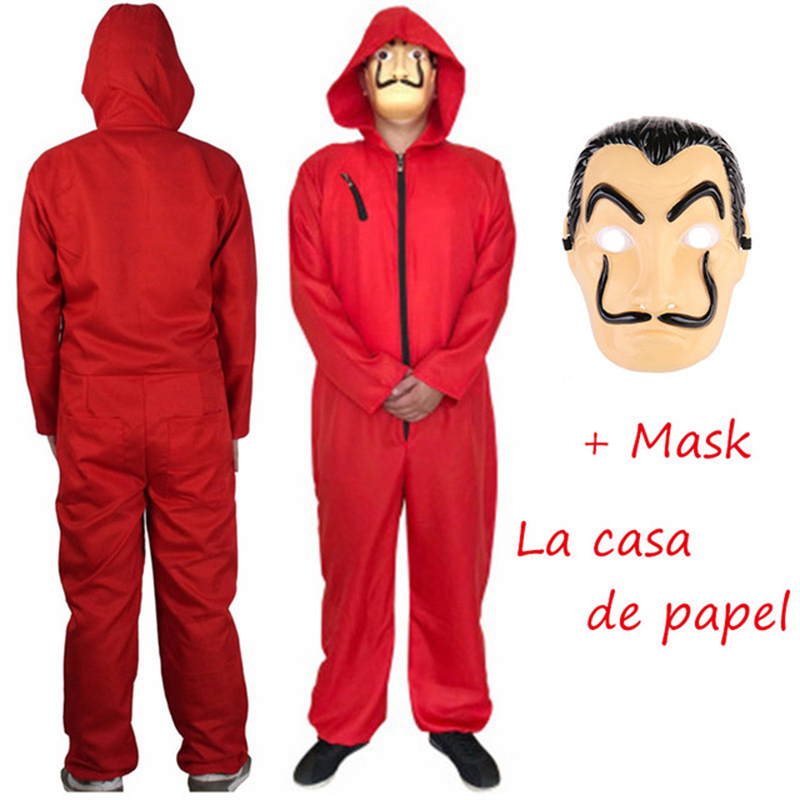 HOT!Cosplay Costume Movie Salvador Dali Clothing Money Heist The House Of Paper La Casa De Papel Halloween Mask Carnival Cosplay