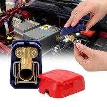 LEEPEE Пара Положительный и отрицательный электрод Quick Release снимите зажимы соединителя клеммы автомобильного аккумулятора автомобильные аксе...