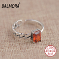 BALMORA New 100% Real 925 Sterling Silver Jewelry Rings for Women Lover Party Engagement Jewelry Fashion Ring Best Gift SY21024