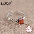 Balmora novo 100% real 925 prata esterlina jóias anéis para as mulheres amante sy21024 da festa de noivado anel de moda moda jóias melhor presente