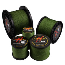 Hercules Braided Fishing Line Sea Saltwater Fishing 8 Strands Army Green 100M 300M 500M 1000M 1500M 2000M 100% PE