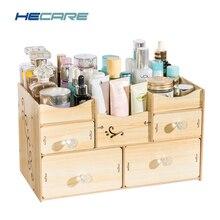 HECARE ванная комната Органайзер деревянный Organizador De Batom органайзер для косметики аксессуары для ванной комнаты Набор Организация хранения Новый
