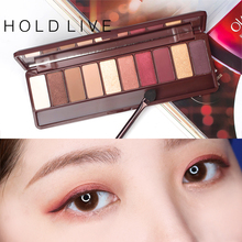 Здесь можно купить   HOLD LIVE Eyeshadow Palette 10 Colors Palette Shimmer Matte Pigment Eye Shadow Cosmetics Mineral Nude Glitter Eye Makeup Beauty Makeup